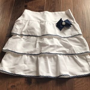 Luli & Me Bottoms - Girls Tiered Daisy Skirt
